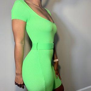 Neon Green romper